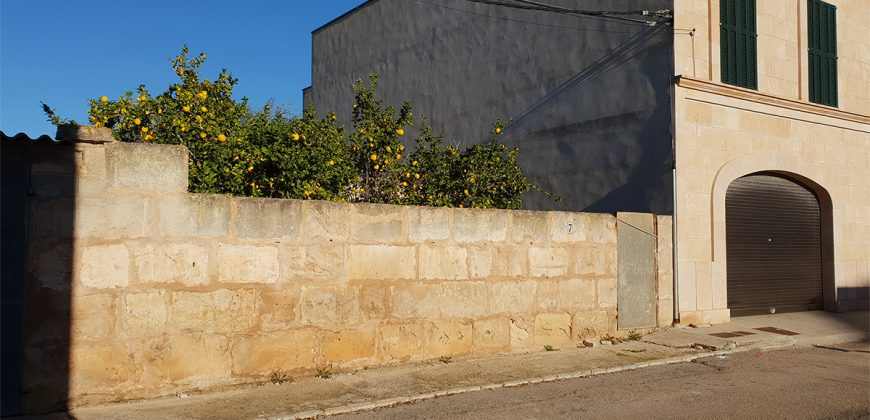 Urban plot placed in the heart of the village of Ses Salines.