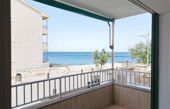 Schöne Erdgeschosswohnung von 50 m2, Terrasse mit Meerblick