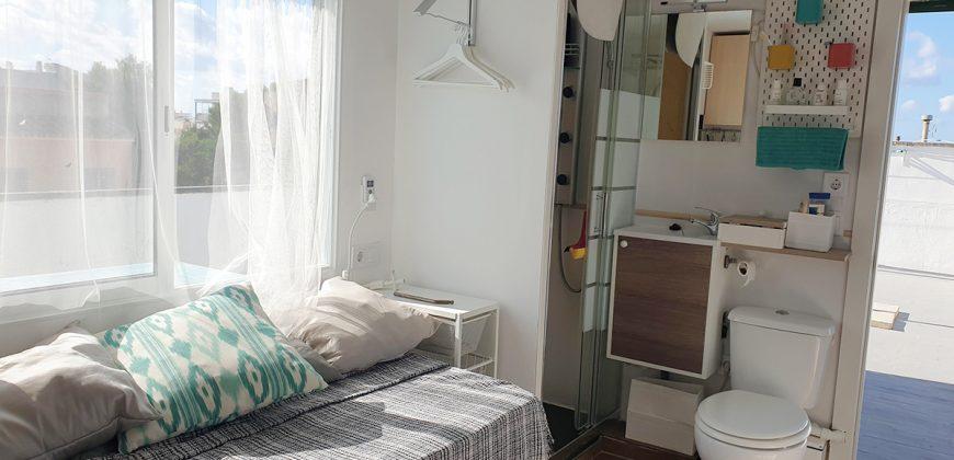Studio Penthouse von 12 m2 mit einer großen privaten Terrasse von 62 m2.